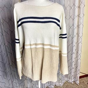 Tommy Hilfiger Two Toned Striped Sweater XL